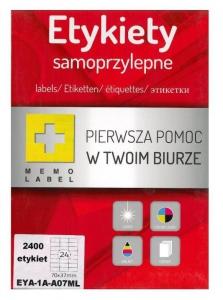 ETYKIETA SAMOPRZYLEPNA A4 (ML) 70x37 /24/A4/