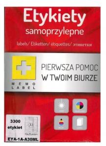 ETYKIETA SAMOPRZYLEPNA A4 (ML) 70x25,4 /33/A4/