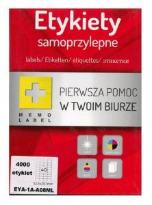 ETYKIETA SAMOPRZYLEPNA A4 (ML) 52,5x29,7 /40/A4/